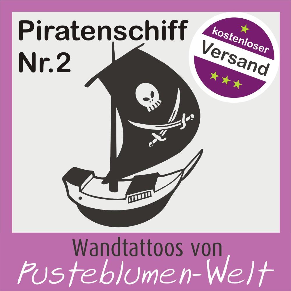 Wandtattoo piratenschiff nr2 pirat schiff kinderzimmer ebay for Wandtattoo piratenschiff