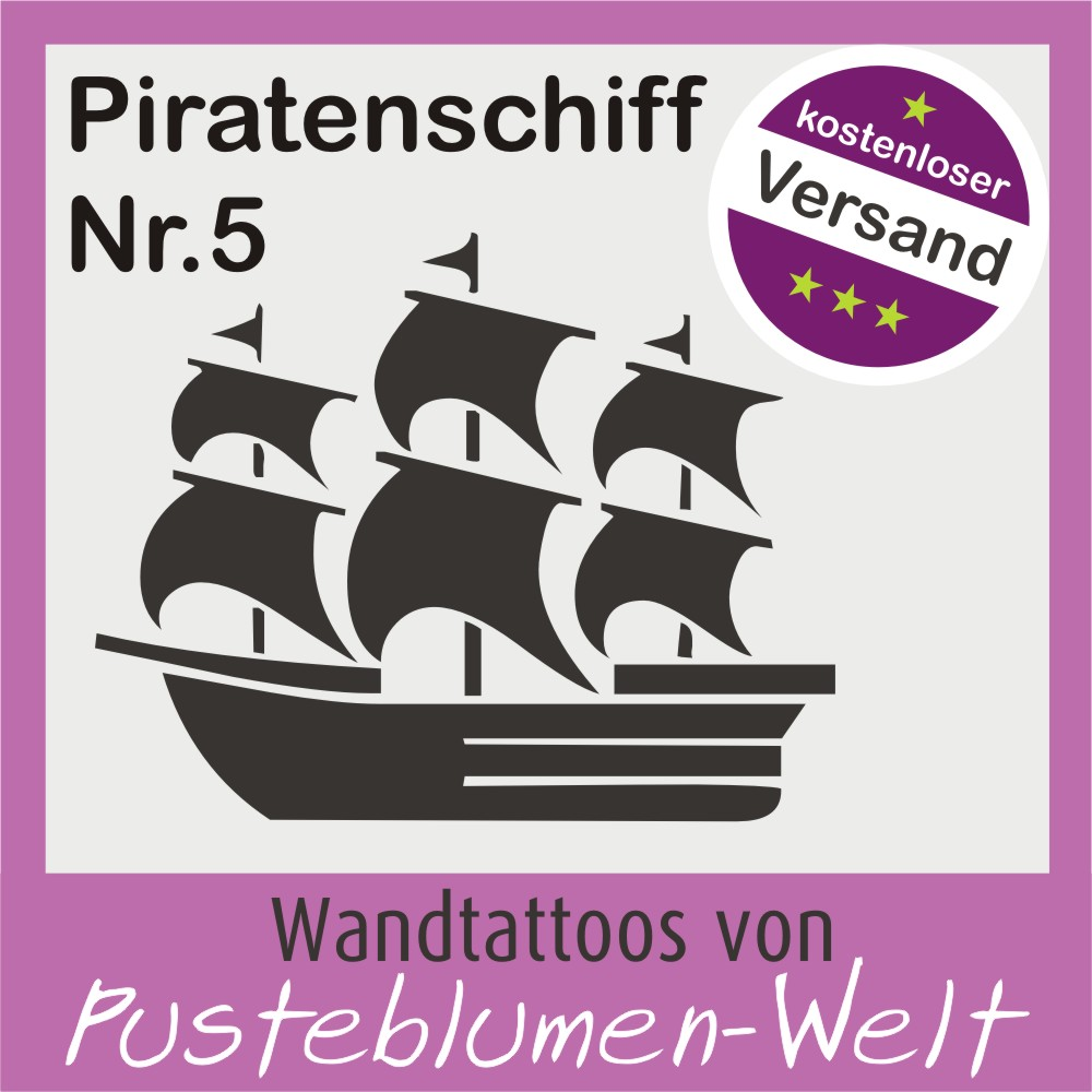 Wandtattoo piratenschiff nr5 pirat schiff ab 5 90 ebay for Wandtattoo piratenschiff
