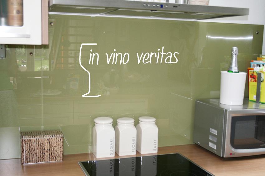 Wanddesign wandtatoo in vino veritas 100x53cm ebay - Wanddesign farbe ...